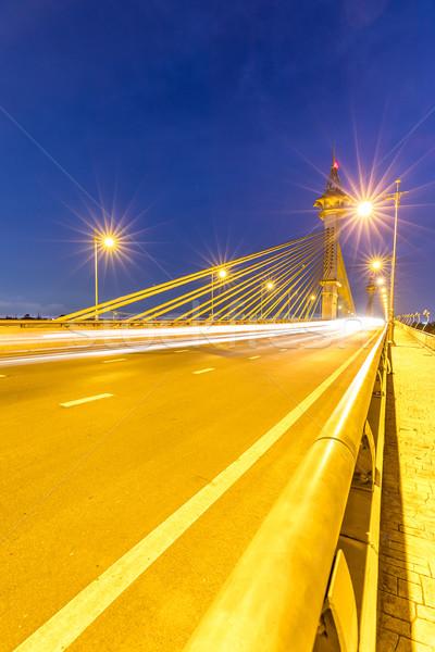 моста закат воды здании город свет Сток-фото © vichie81