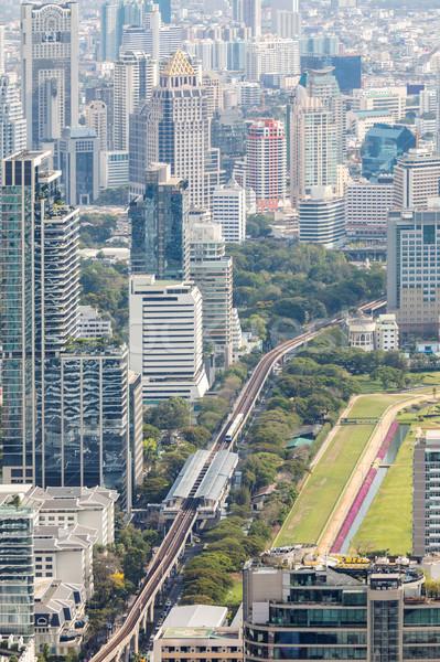 Cityscape ufuk çizgisi şehir merkezinde iş ofis Stok fotoğraf © vichie81