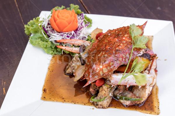 Black pepper crab Stock photo © vichie81