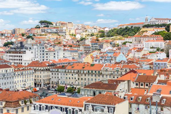 Lisboa cityscape Portugal cidade céu edifício Foto stock © vichie81