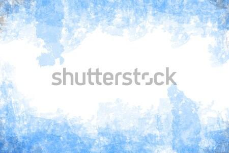 Abstract Blauw grunge stijl witte papier Stockfoto © vichie81