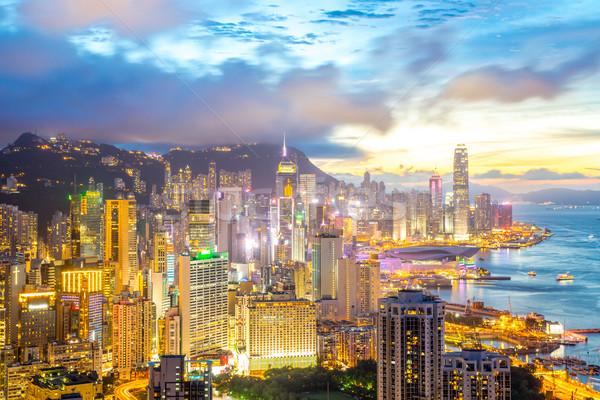 hong kong Skyline from braemar hill Stock photo © vichie81