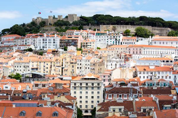 Lisboa Portugal paisaje urbano ciudad casa edificio Foto stock © vichie81