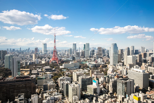 Tokyo Tower cityscape Japan Stock photo © vichie81