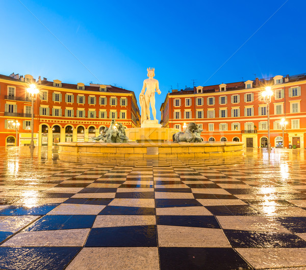 фонтан Nice Франция место квадратный французский Сток-фото © vichie81