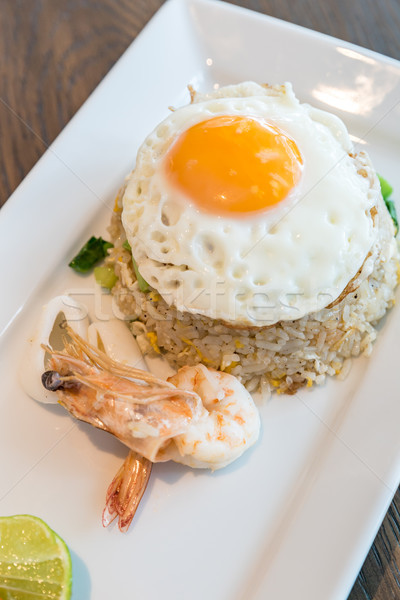 Seafood fried rice Stock photo © vichie81