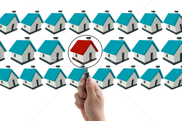 Finding house concept Stock photo © vichie81