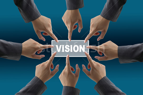 Stock photo: vision of diverse business team