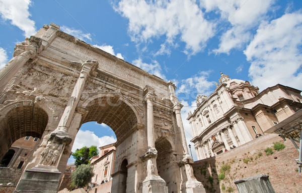 Ruin Roman Forum Stock photo © vichie81