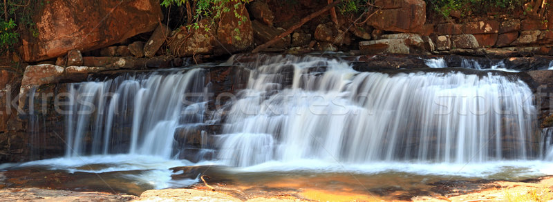 panoramic view of tropical Tadtone waterfall in rain forest Stock photo © vichie81