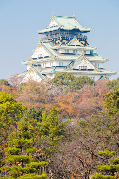 Osaka kale Japonya sonbahar bahçe Bina Stok fotoğraf © vichie81