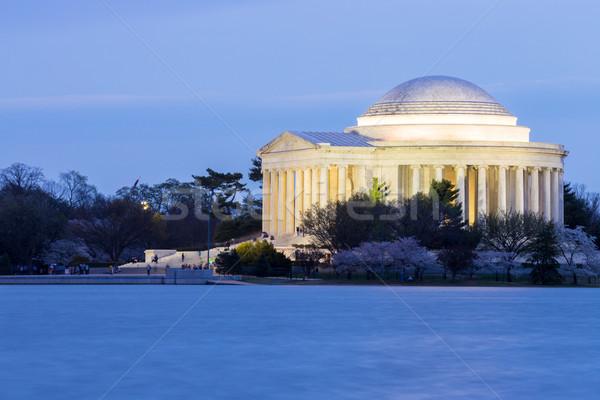 Washington DC gebouw schemering reizen skyline meer Stockfoto © vichie81