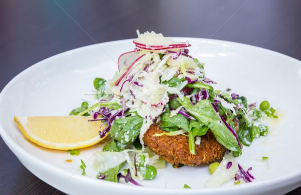 Kipfilet salade diep borst voedsel Stockfoto © vichie81