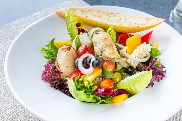 Greco frutti di mare insalata insalatiera cucina alimentare Foto d'archivio © vichie81
