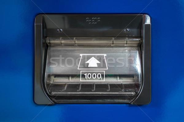 Automaat bankbiljet geld textuur achtergrond bank Stockfoto © vichie81