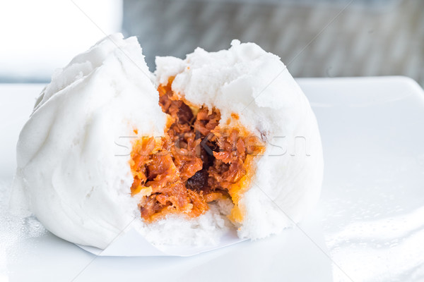 Chinese dim sum BBQ Pork Bun Stock photo © vichie81