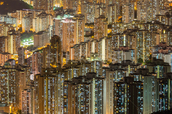 Aerial Hong Kong Residential District Stock photo © vichie81