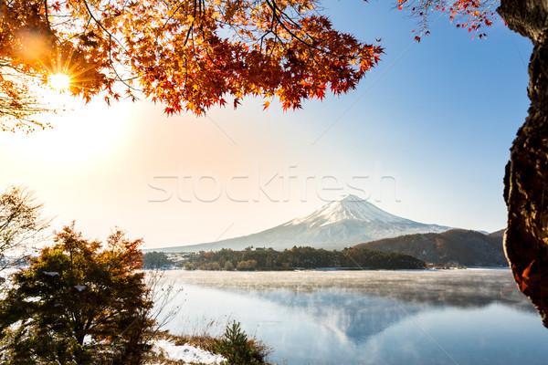 Mt. Fuji Sunrise Lake Kawaguchiko Stock photo © vichie81