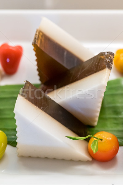 Coco gelée thai sweet dessert fleur Photo stock © vichie81