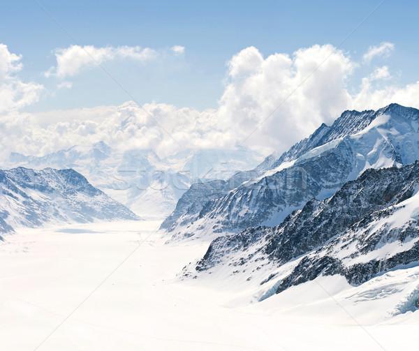 Great Aletsch Glacier Jungfrau Alps Switzerland Stock photo © vichie81