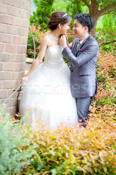 Feliz romântico recém-casados casais retrato casamento Foto stock © vichie81