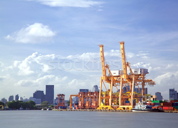 Ship Port Terminal Stock photo © vichie81