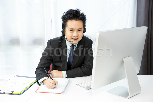 businessman Tele Conference Stock photo © vichie81