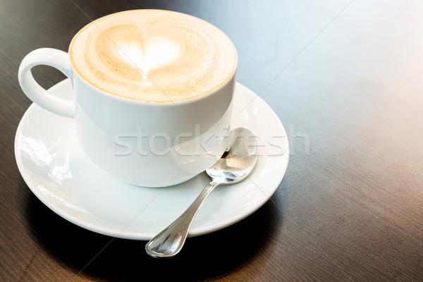 latte coffee heart Stock photo © vichie81
