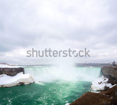 Hoefijzer tabel rock koningin park Niagara Falls Stockfoto © vichie81