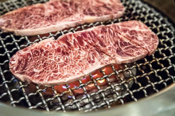 grilled wagyu Sirloin meat yakiniku Stock photo © vichie81