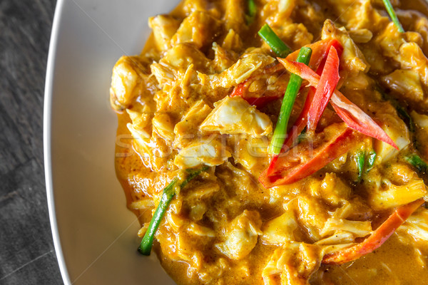 краба мяса карри Chili жареный тайский Сток-фото © vichie81