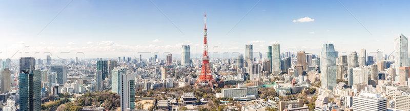 Foto stock: Tóquio · torre · Japão · linha · do · horizonte · cidade · ponte