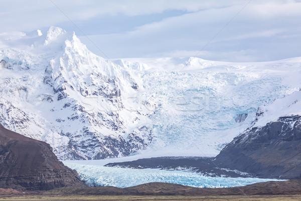 Glacier parc Islande nuages nature paysage Photo stock © vichie81