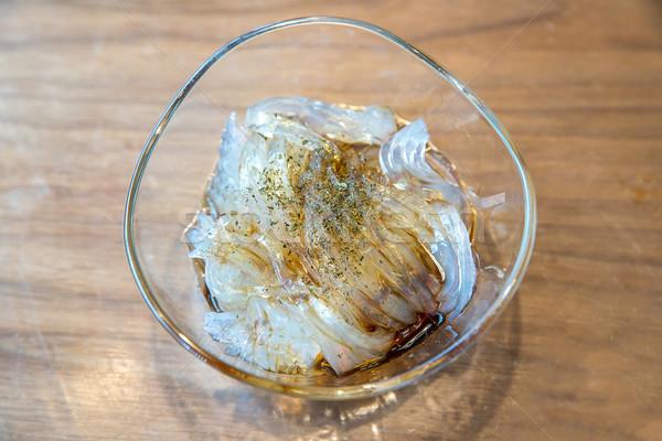 Gelatina budino alghe japanese dessert studio Foto d'archivio © vichie81