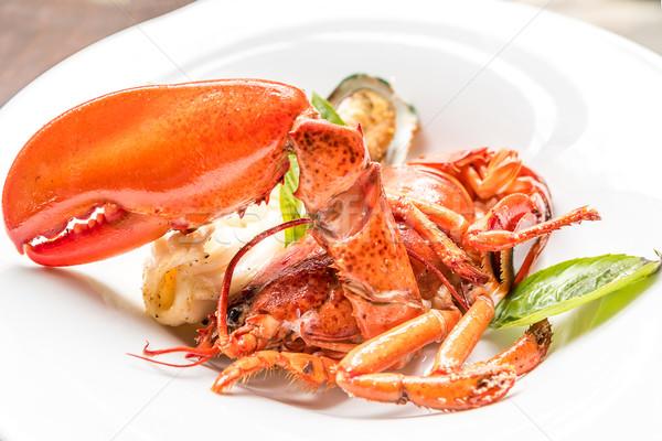 Alla griglia aragosta ristorante limone shell animale Foto d'archivio © vichie81