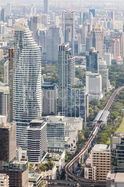 Légifelvétel városkép sziluett belváros üzlet iroda Stock fotó © vichie81
