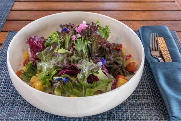 Foto d'archivio: Verde · insalata · frutta · fresca · baby · frutta · salute