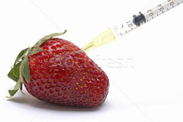генетический продовольствие инженерных клубника шприц аннотация Сток-фото © vichie81