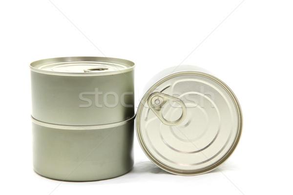 Isolato alluminio può metal bianco texture Foto d'archivio © vichie81
