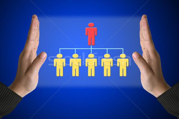 üzlet munkaerő üzlet kéz egyszerű szervezet Stock fotó © vichie81