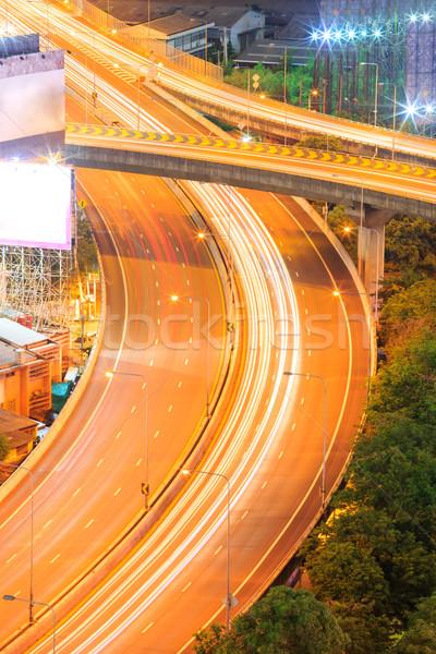 Bangkok snelweg luchtfoto centrum business hemel Stockfoto © vichie81