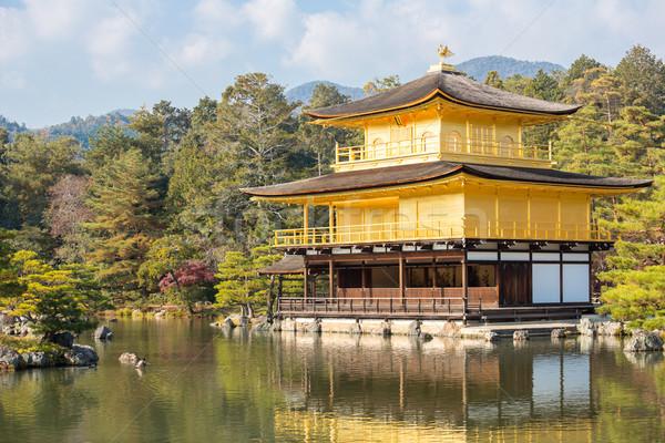 Dourado templo quioto Japão árvore jardim Foto stock © vichie81