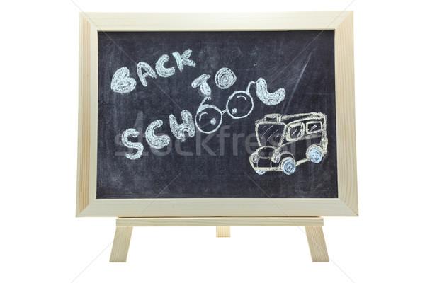 Stock photo: back to school blackboard