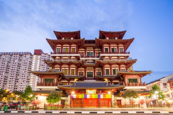 シンガポール 仏 歯 寺 夕暮れ アーキテクチャ ストックフォト © vichie81