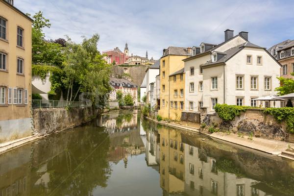 Luxemburg város belváros festői kilátás folyó Stock fotó © vichie81
