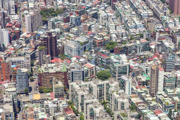 Taiwan cidade centro da cidade linha do horizonte céu Foto stock © vichie81