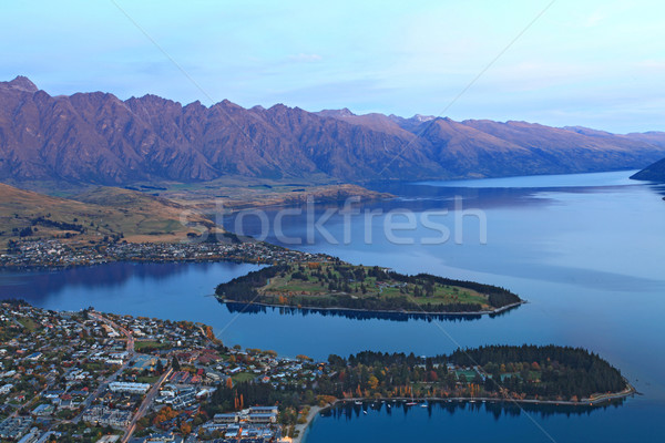 Queenstown at dusk Stock photo © vichie81