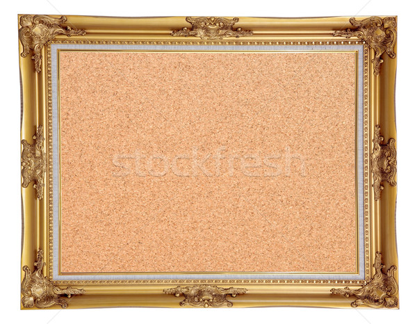 isolated cork notice board with vintage frame Stock photo © vichie81