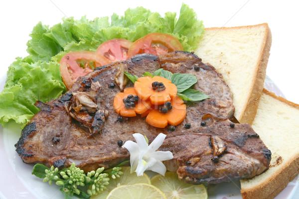 Stock photo: T Bone Pepper Steak