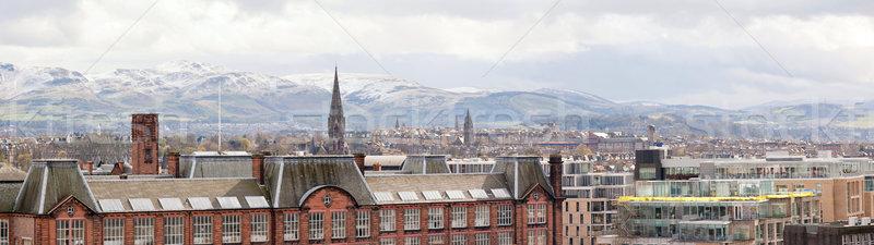 Панорама Эдинбург здании Шотландии закат Церкви Сток-фото © vichie81